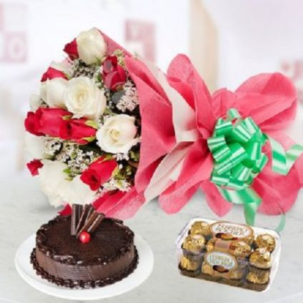 Roses, Chocolate and Cake